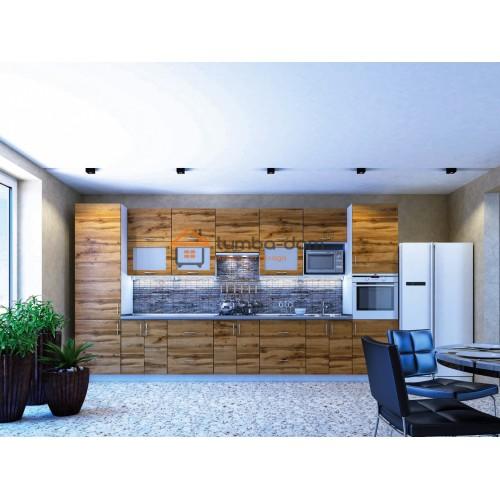 Кухонная мебель линейки Горизонт дуб тахо