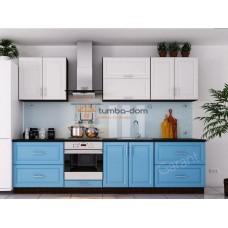 Кухня Софт Premiere синяя с белым