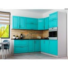 Кухня Брайт Premiere бирюзово синій