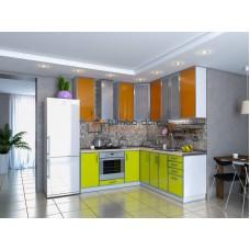 Кухня Фрейм оранж-лайм