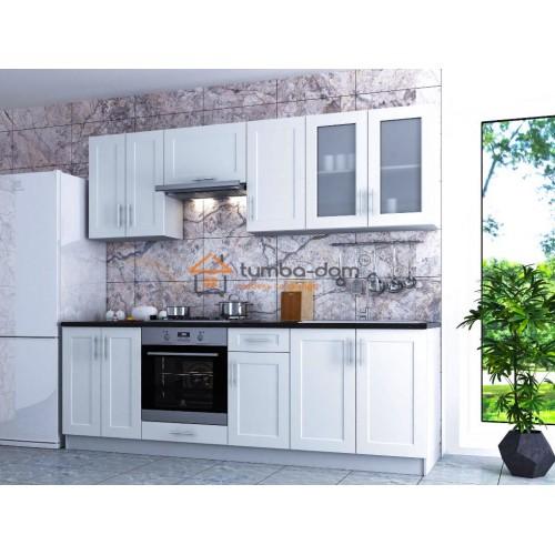 Классическая кухня из линейки Рич белоснежного цвета