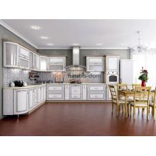 Кухня Платинум белая структура