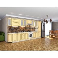 Кухня Платинум дуб беленый золотая патина