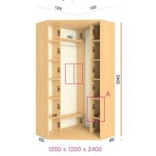 Угловой шкаф-купе 1200х1200х2400 СТАНДАРТ - 2 фасада