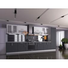 Кухня Элит белый + серый софт