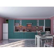 Кухня Элит мурена зелёный супермат